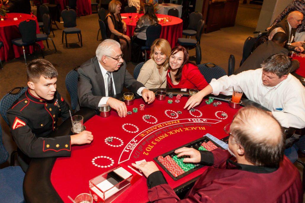 pesta dan acara bertema kasino